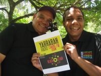 Jim Remedio and Gilmore Johnston -Yarrabah radio coming soon.  Photo: Deborah Welch