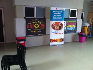 Black Star Working in Partnership with Red Cross