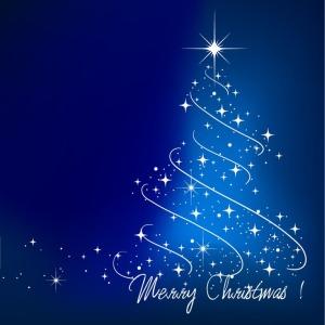 Blue-Christmas-Tree-Vector-Illustration