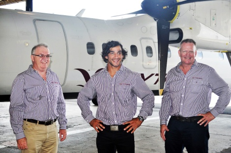 Michael Thinee, Jonathan Thurston and Peter Collings