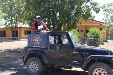 Sai Matainavora getting around town in Doomadgee